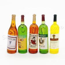 5PCS Wine Bottles Juice Drink Kitchen Dollhouse Miniature Toy For Re-ment Decor