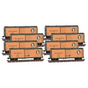 N-Scale Micro-Trains 993 00 820 GREAT NORTHERN 40' STD BOX CAR 8 Car Runner Pack