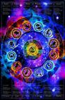 "Laminated Zodiac Chart Non-Flocked Blacklight Poster - 24.5"" x 36.5"""