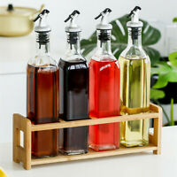 Glass Olive Oil Vinegar Dispenser Bottle Vinegar Nozzle Kitchen Cooking Tool