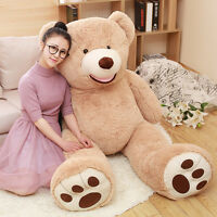 63in.Teddy Bear Big Plush Soft Toys Doll Pillow Gaint Hung Stuffed Animals Gift