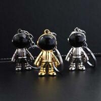 Cartoon Space Astronaut Keychain Creative Metal Doll Keyring Bag Car Pendant