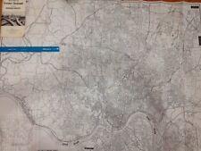 "Vtg 1 Of 2 Rare Huge Cincinnati Map Ohio 1973 By J. L. Marshall 35""x44"" large"