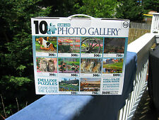 Sure-Lox - Photo Gallery 10 Deluxe Jigsaw Puzzles - 5600 Total Pieces - New
