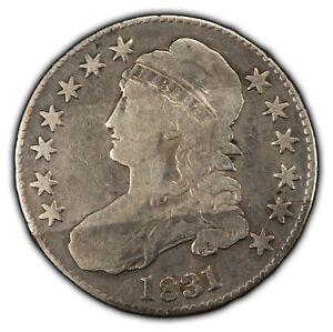 1831 50c Capped Bust Silver Half Dollar - VG - SKU-B1388