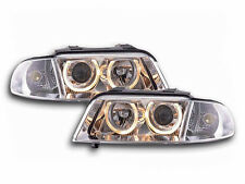 Audi A4 B5 Type 8D 1999-2001 Chrome Angel Eyes Headlights Pair Universal RHD/LHD