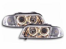 Audi A4 B5 Type 8D 1999-2001 Chrome Angel Eyes Headlights Pair Universal RHD/LHD
