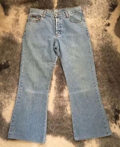 90s blue button down boot leg jeans by CK Jeans Calvin Klein made USA Size 12