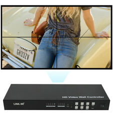 LINK-MI VW02 4 Channel HDMI VGA AV Video Processor 2x2 Video Wall Controller