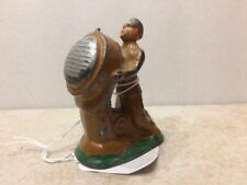 Vintage BARCLAY Manoil Grey Iron B121 Soldier Standing At Searchlight