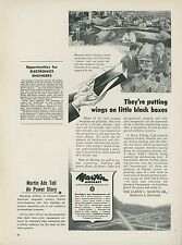 1951 Martin Aircraft Ad Systems Engineering Electronics Employment Black Boxes
