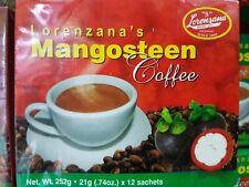 LORENZANA Mangosteen COFFEE, 252 grams 12 sachets