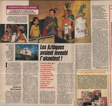 Coupure de presse Clipping 1991 Les Aztèques il était une fois l Amérique 1p1/2