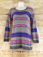 Cotton Emporium Tunic Sweater Womens Small Aztec Southwestern Navajo Thin Knit