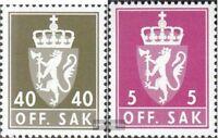 Norwegen D105,D106 (kompl.Ausg.) postfrisch 1978 Staatswappen
