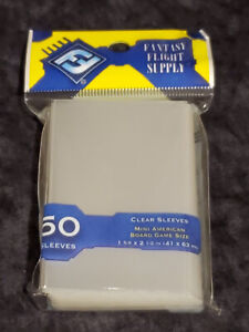 MINI AMERICAN BOARD GAME SLEEVES Fantasy Flight 'Yellow' *NEW SEALED* 50 Pack