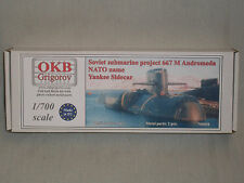 OKB Grigorov 1/700 Scale Resin Soviet Submarine Project 667 M Andromeda