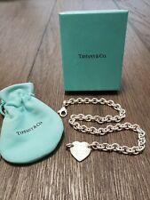 Tiffany & Co. 925 Sterling Silver Heart Tag Choker ~$525 Retail~