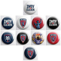 "INDY ELEVEN - USL soccer pinback buttons - 1"" sized sports team pins badges"