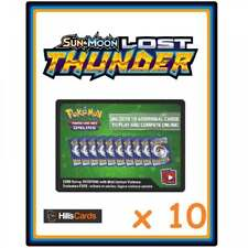 10x POKEMON TRADING CARD GAME EN LIGNE Sun /& Moon Forbidden Light code Carte Pour TCGO Booster