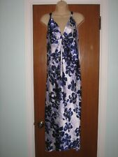 Oscar de la Renta beautiful long maxi nightgown sz S purple lavender white
