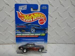 2000 Hot Wheels Treasure Hunt #60 Black 1970 Chevelle SS w/Real Riders