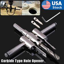 30-120mm Adjustable Circle Hole Cutter Wood Drywall Drill Bit Saw Round Cutting