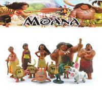 Moana Figures Figurine Cake Topper Maui Pua Heihei Doll 12pcs Set Toy Kids Gift