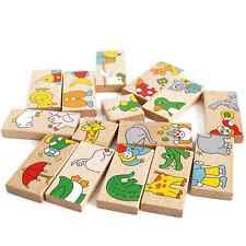 15Pcs Handmade Educational Kids Toy Cartoon Animal Solitaire Puzzle Usefull Good