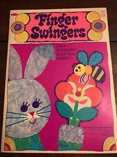 Vintage 1968 Whitman FINGER SWINGERS Puppet Paper Dolls Book #1932 UNCUT
