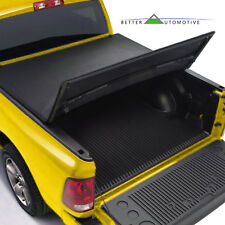 Tri-Fold Lock Soft Solid Tonneau Cover Cover for 2009-2014 Ford F150 5.5ft Bed
