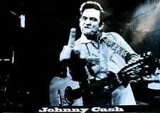 """Johnny Cash middle finger at San Quentin State Prison poster 24 x 36"""" Horizontal"""