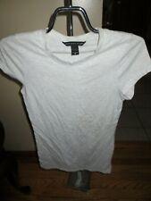 Women's Victoria's Secret Light Gray T Shirt Size M Very Good Condition