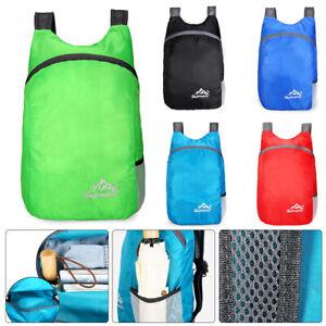 Hiking Travel Backpack Waterproof Rucksack Foldable Outdoor Sports 20L Camp Bag