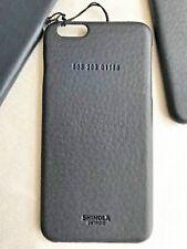 SHINOLA GENUINE LEATHER APPLE iPhone 6 Plus/6S+ $95 PROTECTIVE CASE COVER NAVY!