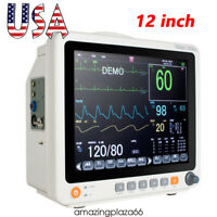"12.1"" Touch Screen Patient Monitor Vital Signs ECG NIBP RESP TEMP SPO2 PR FDA/CE"