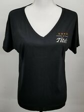 Tito's Handmade Vodka Love Women's Black V-Neck S/S Shirt New Choose Size