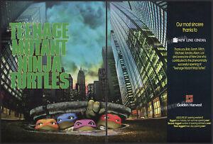 Teenage Mutant Ninja Turtles__Orig. 1990 Trade AD / poster__Golden Harvest__TMNT