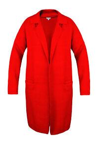 Damen Strickjacke Jacke Viscose Pullover Bunte Cardigan Mantel Lang KILKY TOP
