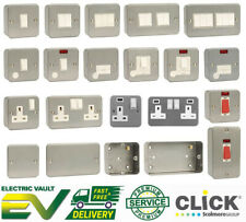 Metal Clad Electrical Fittings Switches & Sockets Workshop Garage Industrial