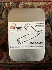 Dayton Audio iMM-6 Calibrated Measurement Microphone for Android, Phone, iPad