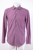 HUGO BOSS Hemd Gr.40 / 15 3/4 gestreift  Baumwolle klassisches Business Hemd