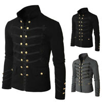 Men's Double Breasted Medieval Cosplay Jacket Steampunk Gothic Victorian Coat FY