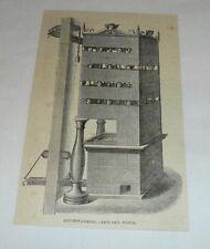 1878 magazine engraving ~ Kesslar'S Stove ~ House-Warming Device