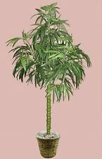 7' ARTIFICIAL SILK BAMBOO PALM TREE PLANT BASKET ARRANGEMENT TOPIARY SAGO DATE
