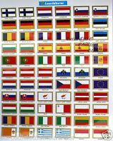 Jeu de drapeaux et illustrations des Pays Européens - Autocollants - LEUCHTTURM