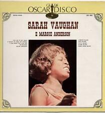 SARAH VAUGHAN / MARGIE ANDERSON ~ SELF TITLED ~ ITALIAN 10-TRACK LP RECORD