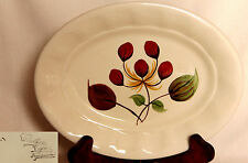 Vintage Small Oval Dish with Handpainted Flower Design - E.Radford
