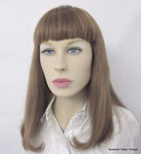 Wig Pro 100% Human Hair Golden Brown Optimum Cuticle  Mono Top Bangs