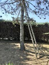 Grande Echelle Bois 4,50 m 18 Barreaux Ancienne Vintage Bricolage Déco Rangement